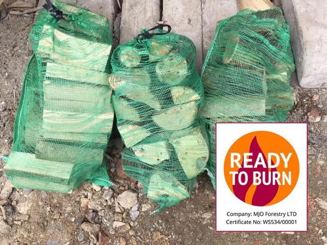 Ready to take away bagged logs